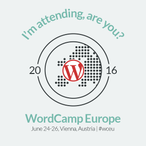 imapge of an I'm attending Wordcamp Europe 2016 badge